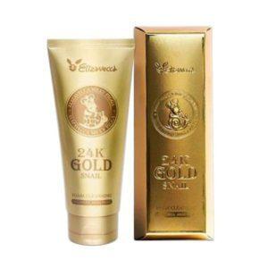 Elizavecca 24k Gold Snail Cleansing Foam, Пенка для умывания золото и улитка,180 мл
