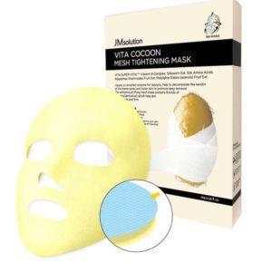 Jmsolution  Vita Cocoon Mesh Tightening Mask, Антивозрастная маска с протеинами шелка, 1 шт