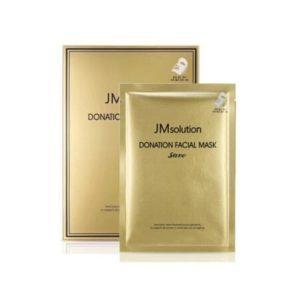 Jmsolution  Donation Facial Mask Save, Антивозрастная маска с золотом, 1 шт