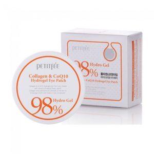 Petitfee Collagen&CoQ10 Hydrogel Eye Patch, Патчи для глаз с коллагеном и Q10, 60 шт