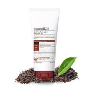 EssenHerb Black Tea Peeling Gel Пилинг-скатка с черным чаем для упругости кожи,100 мл
