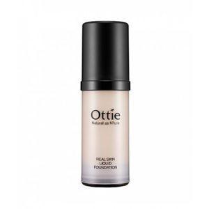 Ottie Real Skin Foundation, Жидкая тональная основа, оттенок 01 светлый беж, 40 мл