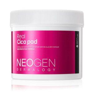 Neogen dermalogy real cica pad, Очищающие пилинг с пэды с центеллой, 70 шт