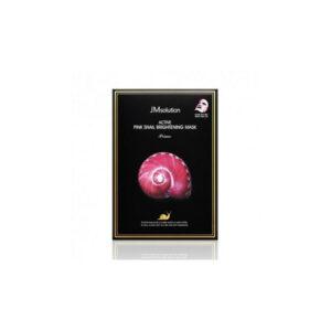 Jmsolution Active Pink Snail Brightening Mask Prime, Тканевая маска с муцином розовой улитки