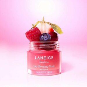 Laneige Lip Sleeping Mask (Berry), Миниатюра ночной маски для губ с ягодами, 20 гр