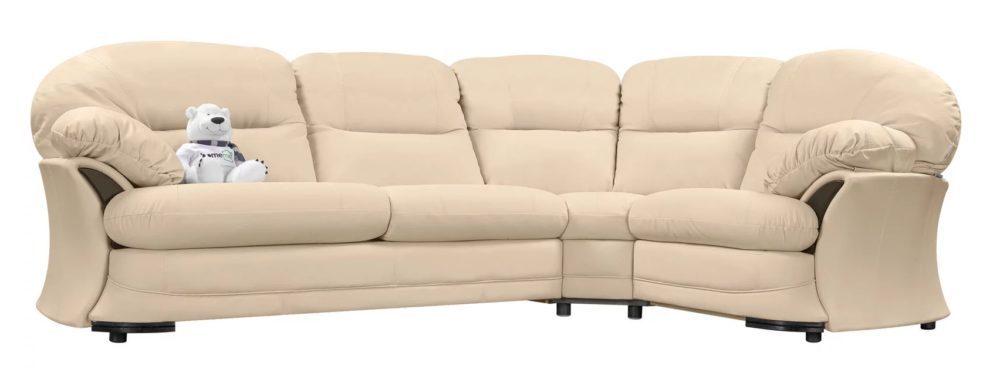 Угловой диван HomeMe Lancaster - yellow, leather