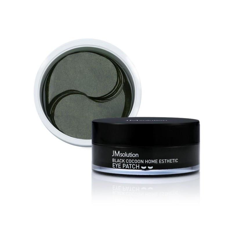Jmsolution black cocoon home esthetic eye patch, Патчи пептидные с черным коконом, 60 шт