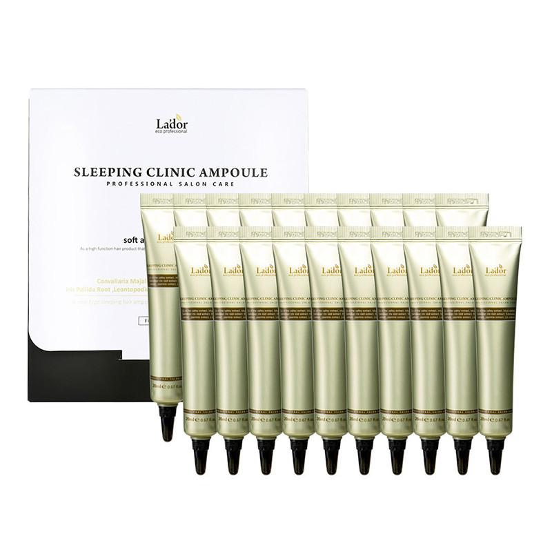 La'dor Keratin Power Fill Up Sleeping Clinic Ampoule, Ночная спа-сыворотка  для волос, 20 мл