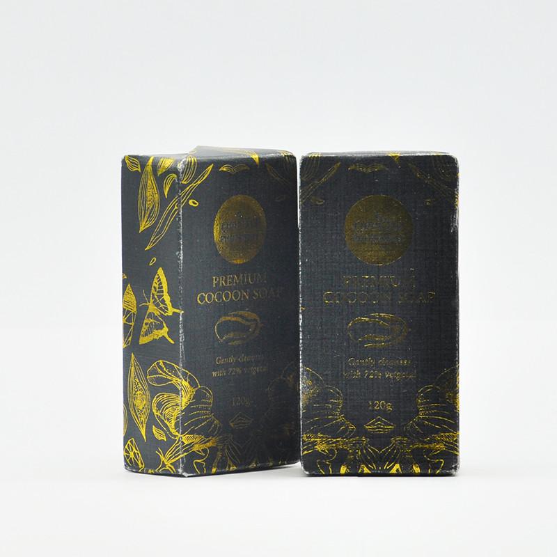 Phutawan Мыло для лица с золотыми коконами, 120 гр