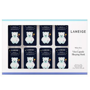 Laneige White dew vita capsule sleeping mask, Ночная маска с мультивитаминным комплексом, 8 мл