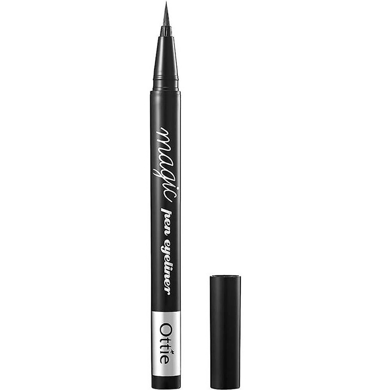 Ottie Magic Pen Eyeliner, Водостойкий лайнер для глаз черный