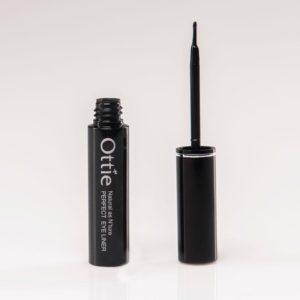 Ottie Perfect Eyeliner, Водостойкий лайнер для глаз черный с кистью