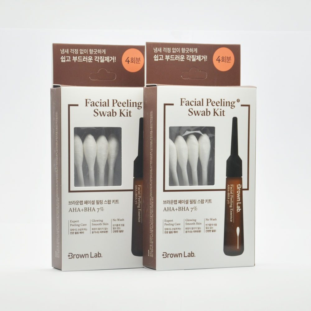 Brown Lab Facial Swab Kit, Набор пилинг-палочек для лица