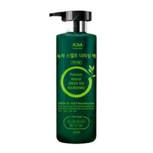 AOMI Green Tea Scalp Nourishing Pack, Маска для волос и кожи головы с экстрактом зелёного чая, 500мл