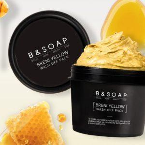 B&Soap Fresh Wash Off Pack, Питательная медовая маска для лица, 100 гр