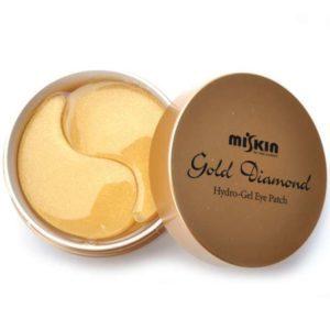 Dia Force Hydro-Gel Eye Patch Gold,  Патчи с золотом (большой размер), 60 шт