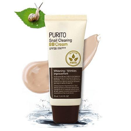 PURITO Snail Clearing BB cream #21 Light Beige, ВВ крем с улиткой, 50 мл