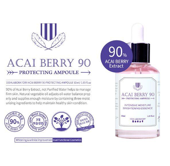 1004 Lab Acai berry 90 protecting ampoule, Сыворотка для лица с ягодами асаи, 50 гр