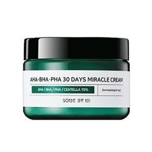 Some by mi AHA/BHA/PHA miracle cream, Крем с тремя видами кислоты для чувствительной кожи, 50 гр