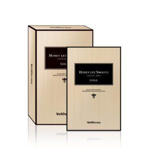 WellDerma hony Ext smooth Essential Mask, Тканевая маска с экстрактом прополиса и золотом, 23 гр