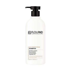 Floland Premium Silk Keratin Shampoo Восстанавливающий шампунь с аминопротеиновым комплексом, 530 мл