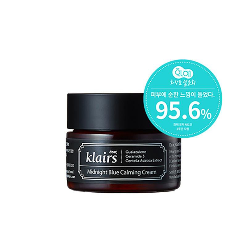 Klairs Midnight Blue Calming Cream, Глубокоувлажняющий ночной крем для лица, 30 мл