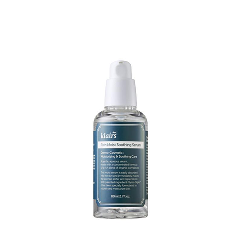 Klairs Rich moist sooting Serum, Глубокоувлажняющий серум для лица, 80 мл