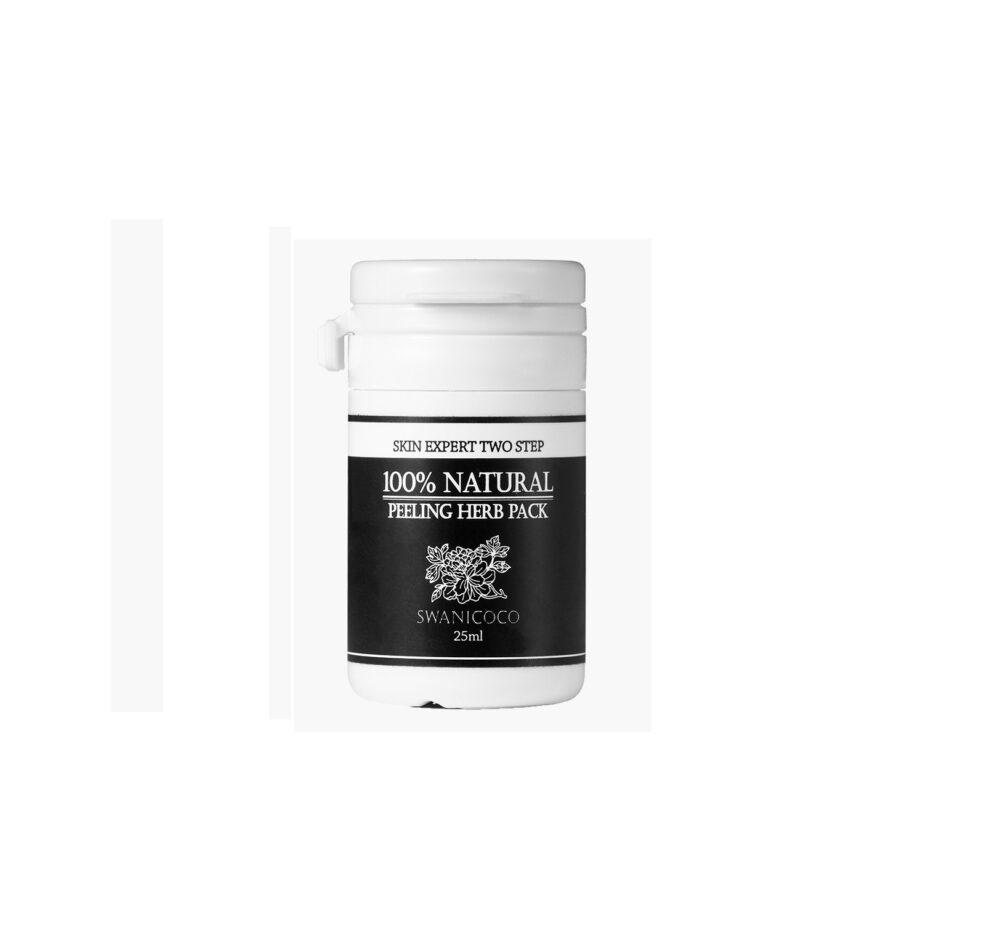Swanicoco 100% Natural peeling herb pack, 100% натуральная травяная пилинг-маска, 25 мл
