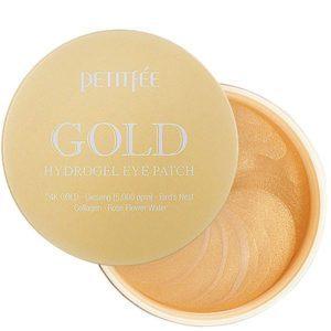 Petitfee Gold +5golden complex, Антивозрастные патчи с золотом, 60 шт