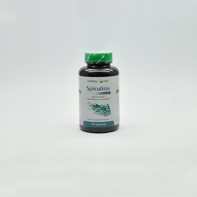 Herbal One Капсулы спирулина, 100 шт