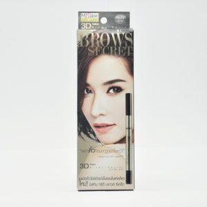 Mistine Brows Secret  3д карандаш для бровей №1 темно-коричневый