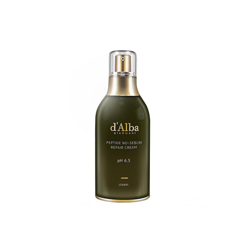 D'Alba Peptide no sebum Премиальный восстанавливающий крем для пептидный крем против жирности, 50 гр