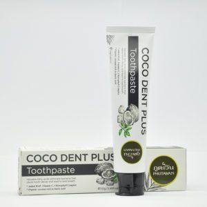 Phutawan Coco Dent Plus Toothpaste Профессиональная отбеливающая паста с кокосом,110 гр