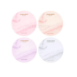 The Face Shop Marble beam blush&highlighter 02, Румяна-хайлайтер