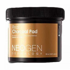 Neogen Real Charcoal Pad 60EA, Очищающие пилинг-пэды с черным углем, 30 ШТ