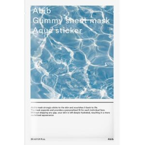 Abib gummy sheet mask aqua sticker, Интенсивная увлажняющая маска, 1 шт