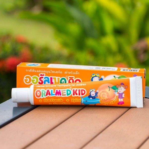 Oralmed Kid Herbal Toothpaste Orange, Детская зубная паста Апельсин, 40 гр