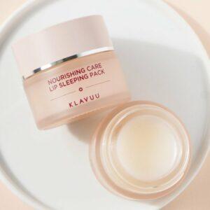 Klavuu Nourishing Care Lip Sleeping Pack, Ночная увлажняющая маска для губ, 15 гр