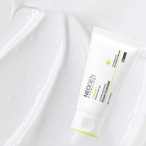 Neogen A-Clear Soothing Foam Cleanser, Пенка для умывания для чувствительной кожи, 100 мл