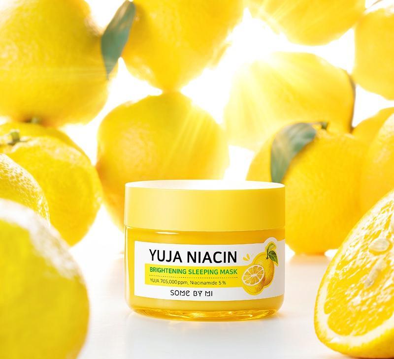 Some By Mi Yuja Niacin Sleeping Mask, Ночная маска на основе витаминного комплекса и ниацинамида,60г
