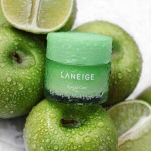 Laneige Lip Sleeping Mask (Apple), Миниатюра ночной маски для губ с яблоком, 20 гр
