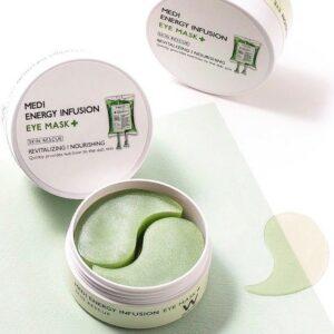 Wonjin Medi Energy Infusion Eye Mask , Патчи Против дряблости кожи с пептидами