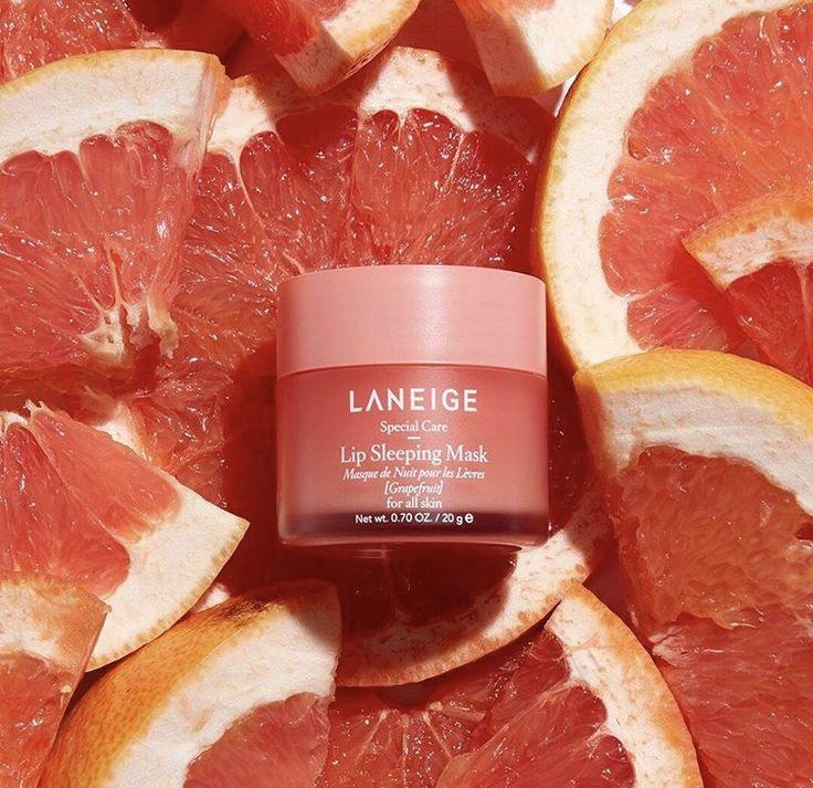 Laneige Lip Sleeping Mask (Grapefruit), Миниатюра ночной маски для губ с грейпфрутом, 8 гр