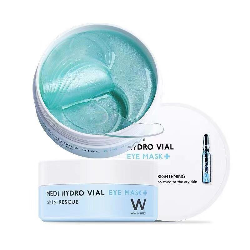 Wonjin Medi Hydro Vial Eye Mask, Патчи с гиалуроновой кислотой и пептидами