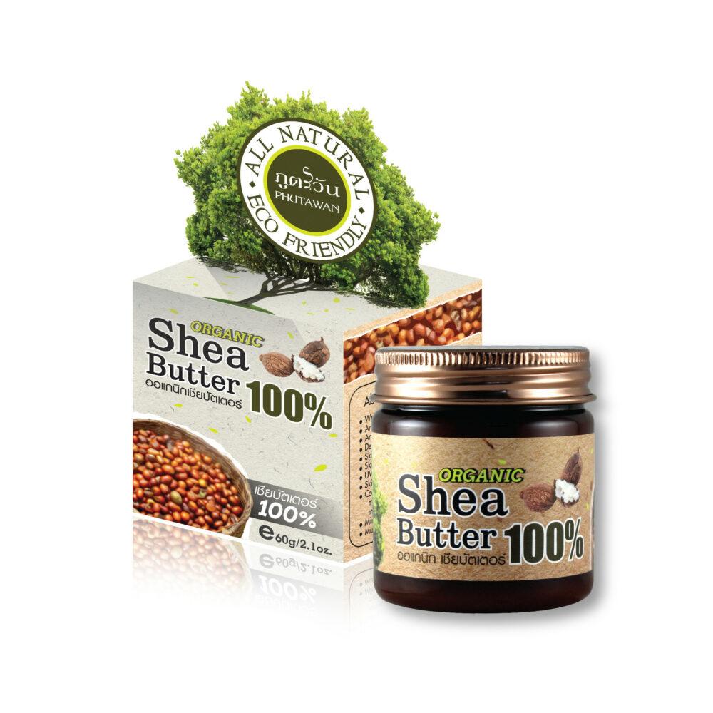 Phutawan органическое масло Ши (карите) 100% organic shea butter phutawan 60 гр. Тайланд