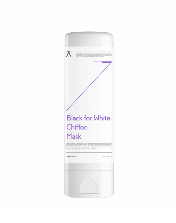 Dermabell Black for White Chiffon mask, Шифоновая маска для детокса и очищения кожи, 250 мл