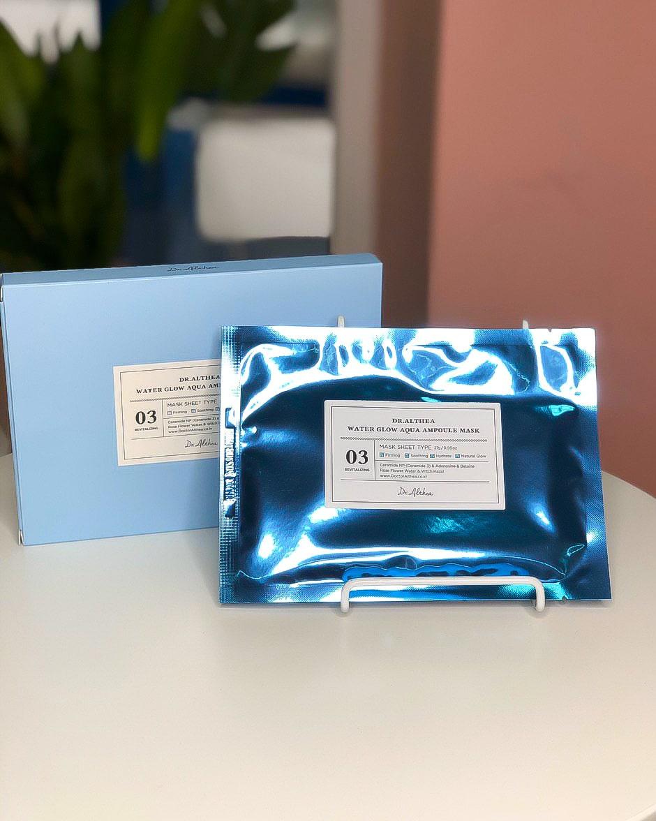 Dr.Althea Water Glow Aqua ampoule Mask, Увлажняющая ампульная маска для сияния кожи