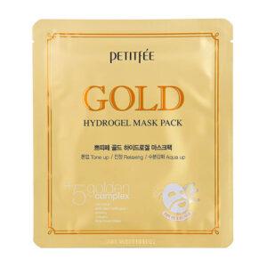 Petitfee Gold Hydrogel Mask Pack, Гидрогелевая маска для лица с золотом