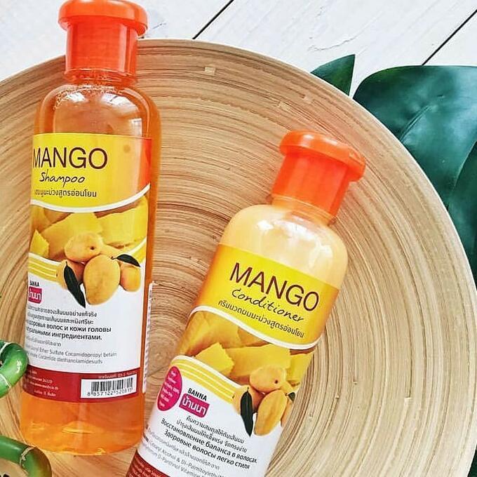 Banna Набор для волос Шампунь 360 мл + Кондиционер 360 мл, Манго