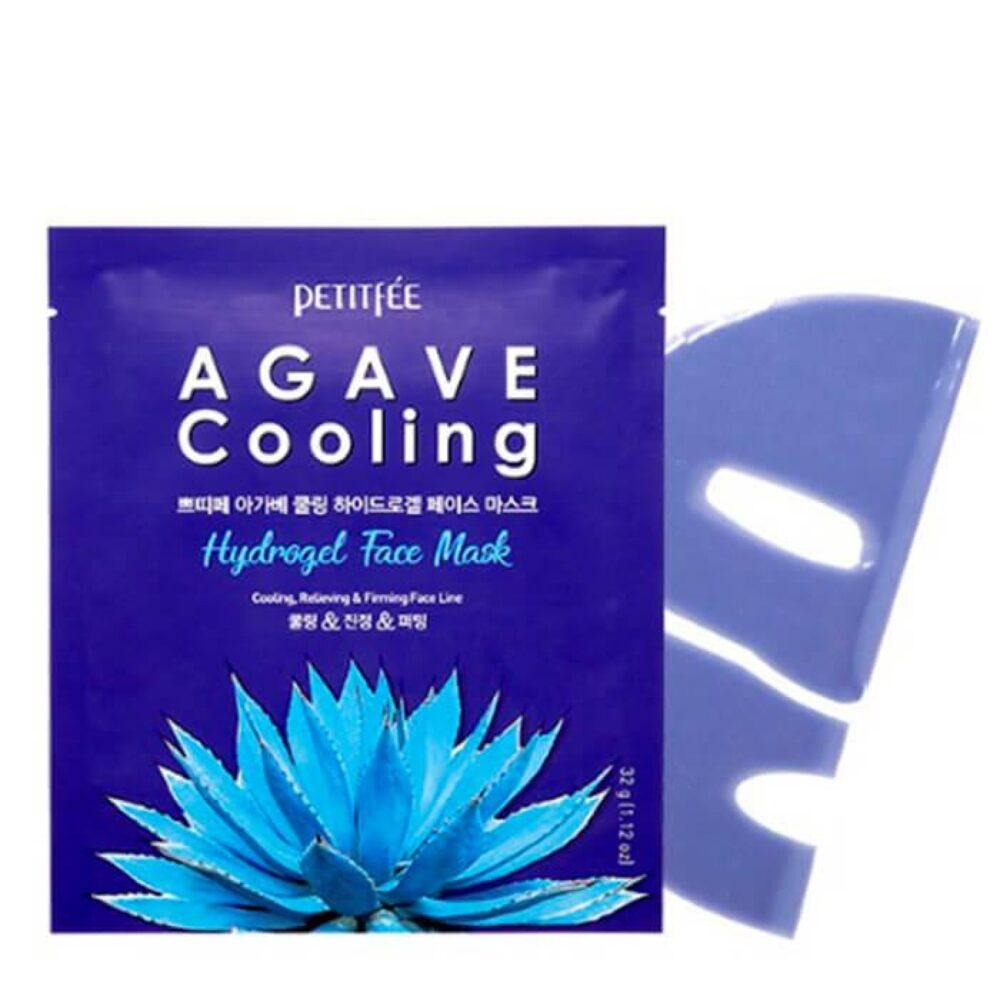 Petitfee Agave Cooling Hydrogel Face Mask, Гидрогелевая маска с агавой